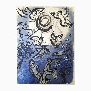Lithographie La Bible - Adam et Eve par Marc Chagall, 1960