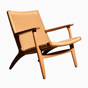 Model CH25 Lounge Chair by Hans J. Wegner for Carl Hansen & Søn, 1950s
