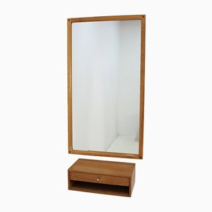 Oak Mirror & Drawer by Aksel Kjersgaard, 1960s