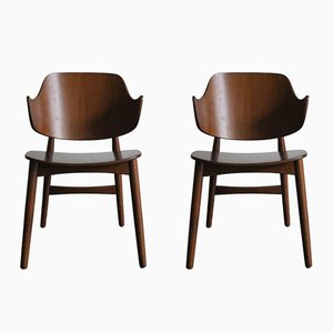 Danish Teak Chairs by Jens Hjorth for Randers Møbelfabrik, 1950s, Set of 2