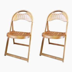 Vintage Bauhaus Folding Chairs, 1940s, Set of 2