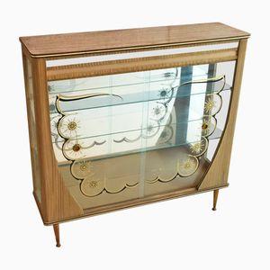 Armario inglés de vidrio, años 50
