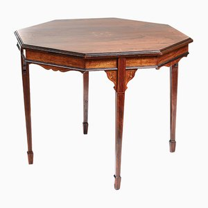 Rosewood Inlaid Center Table, 1900s