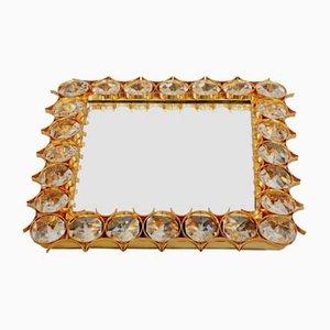 Hintergrundbeleuchteter quadratischer Vintage Spiegel aus Glas von Ernst Palme für Palwa