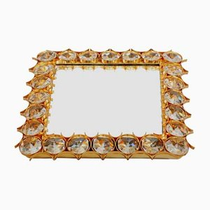 Square Vintage Backlit Glass Mirror by Ernst Palme for Palwa