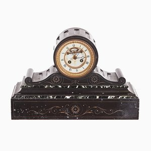 Victorian Marble 8-Day Mantel Clock, 1860s
