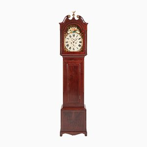 Mahogany Inlaid 8-Day Grandfather Clock, 1800s