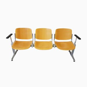 Vintage 3-Seater Bench by Giancarlo Piretti for Castelli