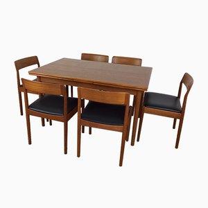 Tavolo da pranzo Mid-Century con sei sedie di Niels O. Møller per J.L. Møllers