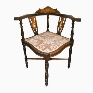 Antique Edwardian Inlaid Corner Chair