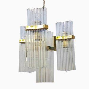 Lámpara de araña vintage de cristal de Murano de Gaetano Sciolari