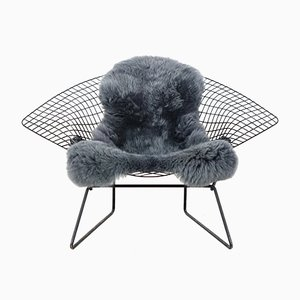 Sedia Diamond grande vintage di Harry Bertoia per Knoll International, anni '50