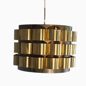 Lámpara colgante danesa Mid-Century de Werner Schou para Coronell Elektro, años 60
