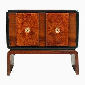 Mueble bar Art Déco de raíz de nogal de Guglielmo Ulrich para Meroni & Fossati, años 30