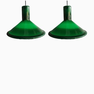 P&T Pendel Pendant Lights by Michael Bang for Holmegaard, 1970s, Set of 2