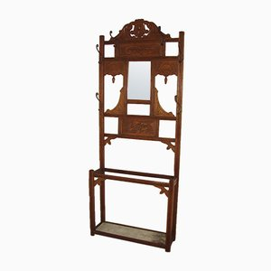 Antique Coat Stand with Mirror