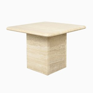 Vintage Travertine Side Table