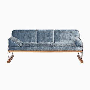 Art Deco Sofa aus Stahlrohr von Hynek Gottwald, 1930er