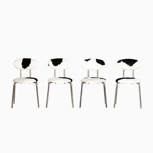 Industrielle Vintage Stühle, 1960er, 4er Set