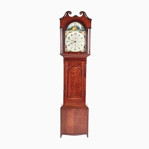 Antique Oak & Mahogany Grandfather Clock by W Prior Skipton, 1820s