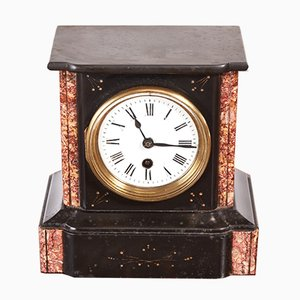 Small Victorian Marble Desk Clock, 1880s