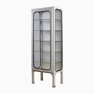 Vintage Medical Cabinet with Glass Shelves, 1975
