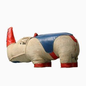 Therapeutisches Vintage Nossy Nashorn Spielzeug von Renate Müller für H. Josef Leven KG