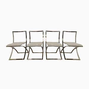 Vintage Luisa Folding Chairs by Marcello Cuneo for Mobel Italia, Set of 4