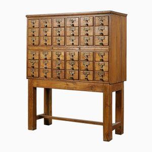 Mid-Century Oak Filing Cabinet, 1940s