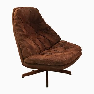 Danish Suede MS 68 Lounge Chair by Madsen et Schubel, 1970s