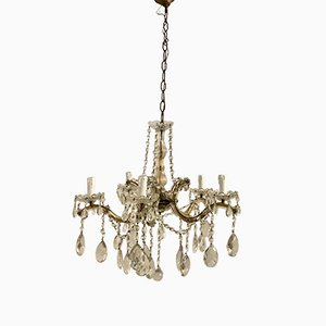 Vintage Crystal Maria Theresa Chandelier