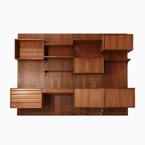 Mid-Century Storage Wall Unit with Desk by Poul Cadovius