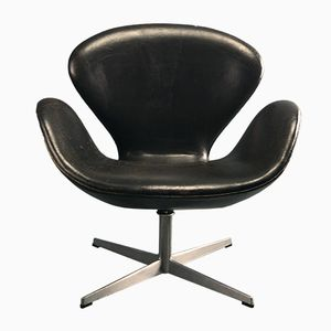 Leather Swan Chair by Arne Jacobsen for Fritz Hansen, 1969