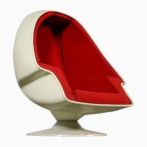 Armlehnstuhl mit Gestell aus Metall & Kunststoff & Sitz mit Stoffbezug von Lee Co, 1960er