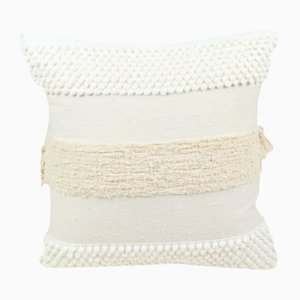 Furry Mushroom Pillow in White by Nieta Atelier
