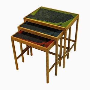 Tavolini ad incastro Futura di David Rosèn per Nordiska Kompaniet, 1953