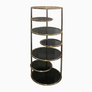 Brass Circular Shelving Unit, 1970s