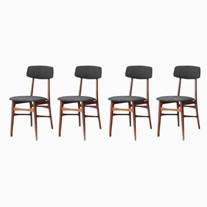 Italian Rosewood Chairs, 1950s, Set of 4