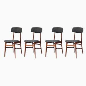 Italienische Stühle aus Palisander, 1950er, 4er Set