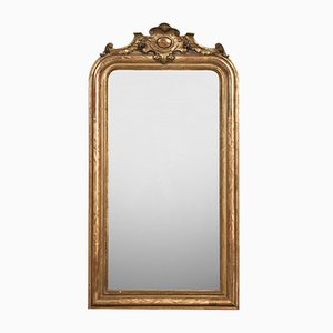 Antique French Mirror with Cartouche