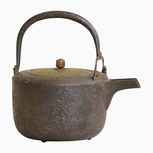 Antiker japanischer Chōshi Kessel aus Eisen
