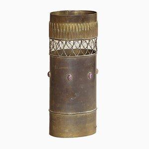 Brutalistische französische Tischlampe aus Messing von Jacque d'Aubres, 1966