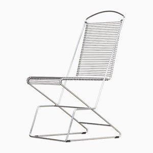 Sedie vintage con struttura in metallo cromato di Till Behrens per Schlubach, set di 4
