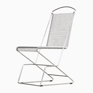Vintage Stühle mit Chromgestell von Till Behrens für Schlubach, 4er Set