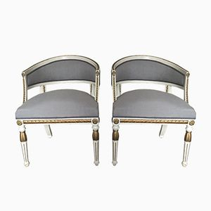 Antique Swedish Armchairs, Set of 2