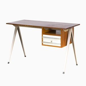 Vintage Dutch Teacher's Desk by Friso Kramer & Wim Rietveld for Galvanitas