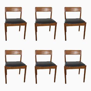 Mid-Century Esszimmerstühle von David Walker für Dalescraft, 1960er, 6er Set