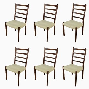 Mid-Century Rosewood Dining Chairs, 1960s, Set of 6