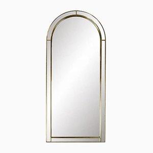Vintage Spiegel mit goldenem Bogenrahmen von Deknudt