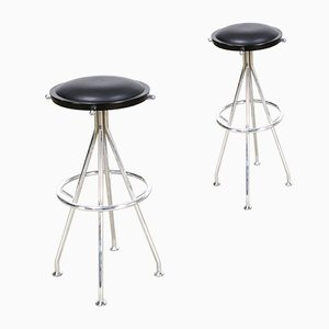 Chrome Barstools from Blå Station, 2000s, Set of 2